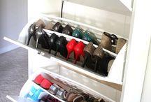 organization de sapatos