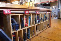 Wood shop/Garage Storage Ideas / by Aaron Kesseler