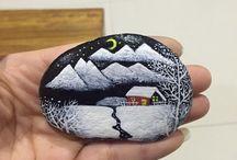 Beschilder stenen