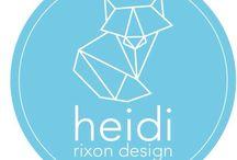 Me and my design / https://www.facebook.com/Heidirixondesign/