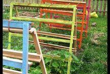 Pallets in the garden