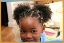 AA baby girl hair
