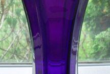 Vazen glas gekleurd