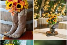 Sunflowers wedding decorations