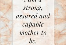 Beautiful Birth Affirmations / Beautiful Birth Affirmations to create positive thoughts and confidence about childbirth.