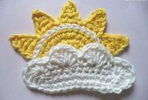 2D crochet figures