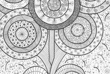 mandalas, doodles, zentangles