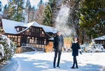 Peles Castle Romania / Castelul Peles Romania Castle couple winter travel