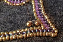 Brooch and beads