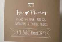 Wedding Photo Hashtag Signs