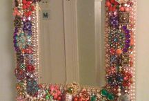 Jewelled frames and mirrors....