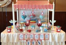 Circus lolly buffet / candy buffet. / Circus lolly buffet / candy buffet. Styled by Sugarlicious Parties. www.sugarlicious.com.au. www.facebook.com/SugarliciousParties.