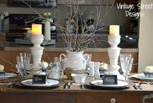 Decorating-table displays / how to decorate the dining room table