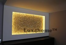 Pebble Wall / Standing Pebbles on walls. Collection Lux4home™