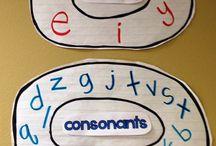 DC J/S 14-16 Consonants / Consonants, blends, digraphs, r controlled, silent consonants, hard and soft C/G / by Julie Kozisek