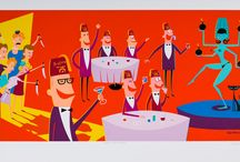 """Shag / Josh Agle's – """"Shag"""" –has a full career of paying homagé to that amazing time of the early 1960s. He using this late 1950s to early 1960s period to engage about who we were then and what we've become."""