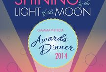 Shining by the Light of the Moon / We are so proud of each of our chapters, both collegiate and alumnae! The Shining by the Light of the Moon Awards Dinner took place on July 10, 2014. See all of our Convention 2014 Award Winners here!