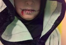 Halloween / Kids halloween makeup. Lasten halloween meikki.