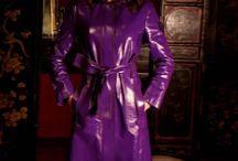 Purple rainwear