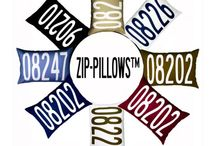 Zip-Pillow / What's your ZIP? Our custom-designed ZIP code pillows are eco-friendly, produced with a natural cotton and linen blend fabric in your choice of color, and hand-made in the USA.