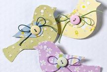 spring cards ornaments