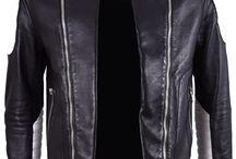 Balmain: Black and Whiter Leather Jacket