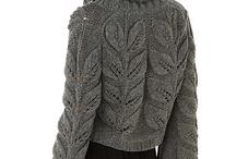Pull, gilet, bijoux ,écharpe, mitaines, gants au crochet et tricotin !