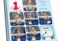 Cake Smash Canvas Photo Collage Prints