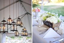 Lighting Ideas / Set the mood in your tent with lighting.  There are a million ways to express the nights theme from fun to romantic and bright to dim.