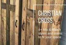 Christian Cross Barn Door Designs