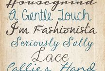 fonts & graphics / by Holly Jennings