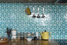 Surfaces / Materials, textures and patterns for floors and walls.