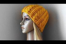 Pletené čepice videa a vzory