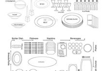 Buffet/ table set up / by Rondessa Robinson