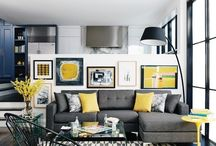Living room greyish yellow
