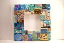 My Handmade Frames / Polymer clay handmade mosaic frames. Also mixed media frames and art.... #mosaics #mosaicframes #polymerclaymosaic #mixedmedia