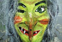 čarodějnice / výroba masky čarodějnice