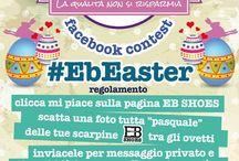 Contest #EbEaster / Parte da oggi il nuovo Facebook Contest di EB SHOES!!! Fate una foto alle vostre scarpine #EBShoes ritratte vicino al vostro uovo di pasqua, colomba o qualsiasi oggetto richiami questa festività!!! Inviatecela in posta privata e noi la pubblicheremo!!! La foto con il maggior numero di LIKES vincerà!!! Il Contest #EbEaster è valido fino al 30/04/2014!!!