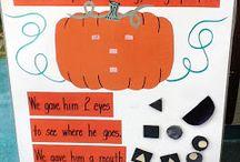 Pumpkins and Fall in PreK