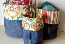 Jeansideer / Tips på hur man kan återanvända gamla jeans.