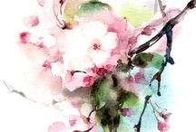 kukka-akvarelli