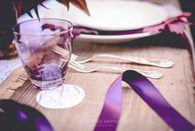Autumn Plum / The elegant addition of the colour plum adds instant warmth to any event space. Especially suited to rustic or vintage styles using wood furniture and textured linens.
