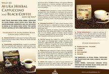 Ayura Herbal Black Coffee, Cappuccino