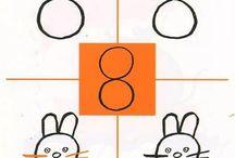 Dibuixar amb números i lletres