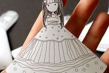 School ideas / Girl bookmarks