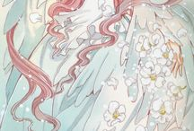 CLAMP / Illustrations by the artist from CLAMP