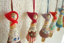 Clothes peg dolls