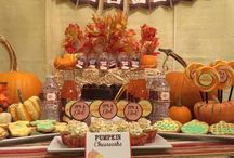 Fall colors baby shower