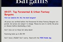 Paranormal and Urban Fantasy Bargains!
