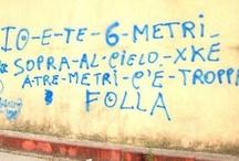 scritte su muri